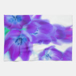 Colorful, girly, romantic, purple tulips hand towel