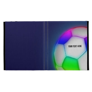 Colorful Girly Soccer | Football iPad Folio Covers