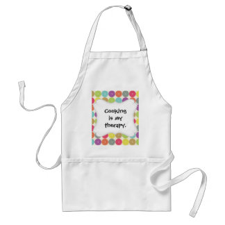 Colorful Girly Spring Pastel Circle Disks Pattern Adult Apron