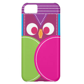 Colorful Girly Stitched Owl iPhone 5c Case