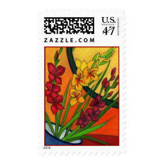 COLORFUL Gladiolus Glads Stamps MATCH INVITATIONS