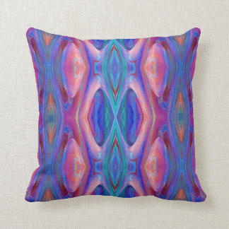 Colorful Glass Abstract Throw Pillow