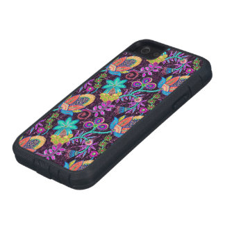 Colorful Glass Beads Look Retro Floral Design 2 iPhone SE/5/5s Case