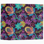 Colorful Glass Beads Look Retro Floral Design Vinyl Binder