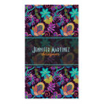 Colorful Glass Beads Look Retro Floral Design Business Card Templates