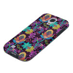 Colorful Glass Beads Look Retro Floral Design Galaxy S4 Case