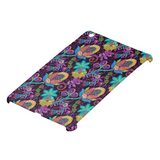 Colorful Glass Beads Look Retro Floral Design iPad Mini Covers