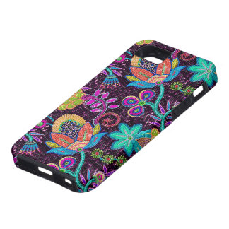 Colorful Glass Beads Look Retro Floral Design iPhone 5 Case