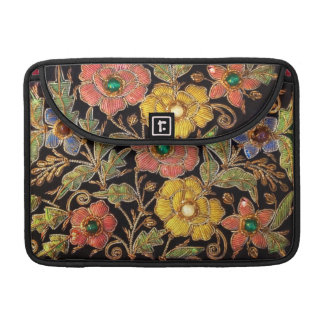 Colorful Glass Beads Vintage Floral Design Sleeve For MacBook Pro