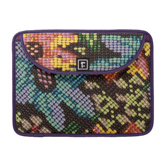 Colorful Glass Beads Vintage Flower Design Sleeve For MacBook Pro