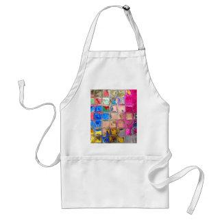 Colorful glass blocks texture adult apron