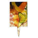 Colorful Glass Blowing Abstract Cake Topper
