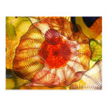 Colorful Glass Blowing Abstract Postcard