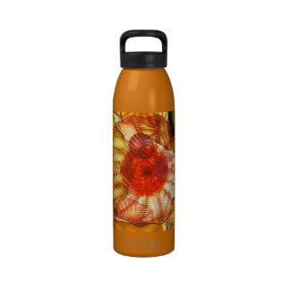 Colorful Glass Blowing Abstract Water Bottle
