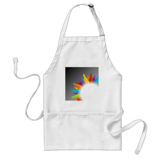 Colorful glass bottles adult apron