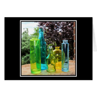 Colorful Glass Bottles Card