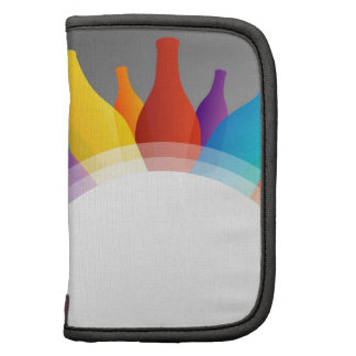 Colorful glass bottles planners