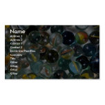 Colorful Glass marbles Business Card Templates