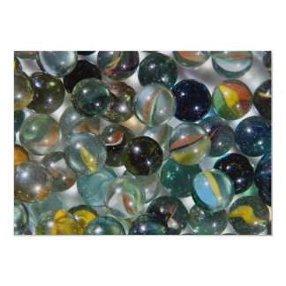 Colorful Glass marbles Card