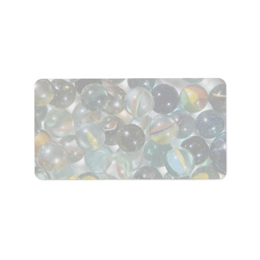 Colorful Glass marbles Personalized Address Labels
