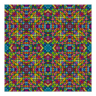 Colorful glass mosaic poster