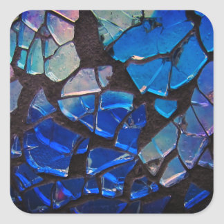 Colorful Glass Mosaic Square Sticker
