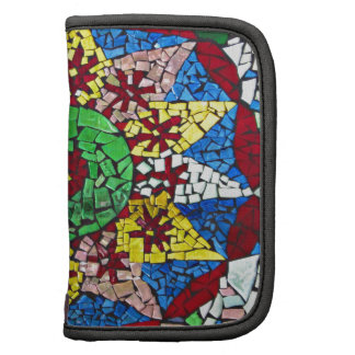 Colorful glass mosaic star pattern folio planners
