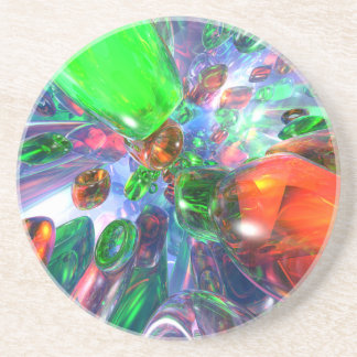 Colorful Glass Rings Coasters