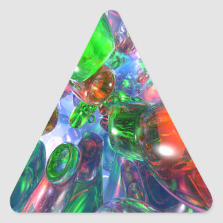 Colorful Glass Rings Triangle Sticker