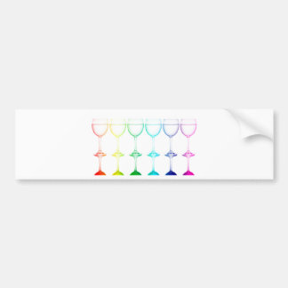 Colorful glasses in front of white background bumper sticker