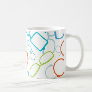 Colorful glasses pattern coffee mug