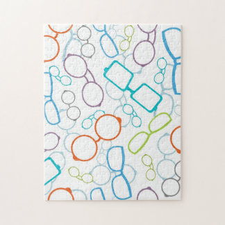 Colorful glasses pattern jigsaw puzzle