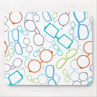 Colorful glasses pattern mouse pad