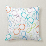 Colorful glasses pattern throw pillow