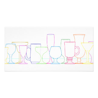 Colorful Glasses Row Card