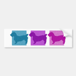 Colorful Glen of Imaal Terrier Silhouettes Bumper Sticker