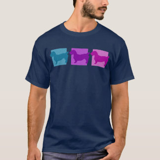 Colorful Glen of Imaal Terrier Silhouettes T-Shirt