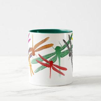 Colorful Glide Dragonfly mug