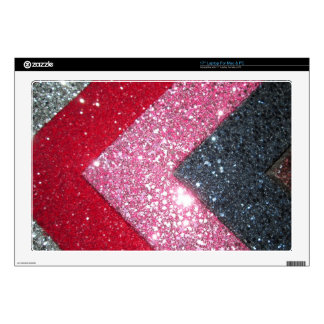 """Colorful glitter 17"""" laptop decal"""