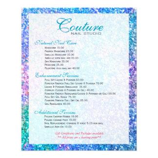 Colorful Glitter Glitter Menu List