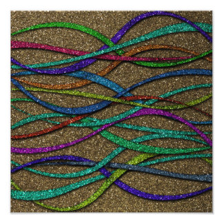 Colorful Glitter Lines Photo