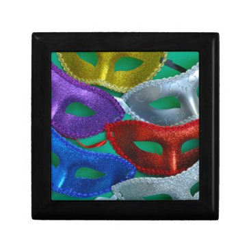 Halloween Themed Colorful glitter masks keepsake box