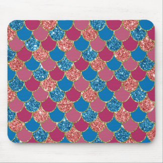 Colorful glitter mermaid texture Mousepad