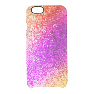 Colorful Glitter Sparkles - Red Pink Purple Gold Clear iPhone 6/6S Case