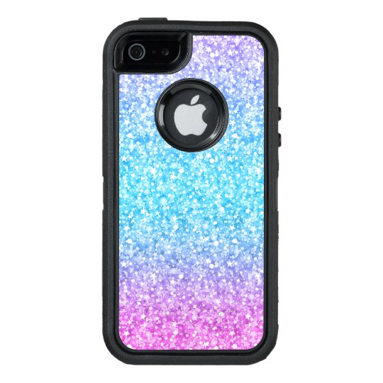 quality design ad283 70763 Colorful Glitter Texture Print Blue Pink & Purple OtterBox iPhone Case