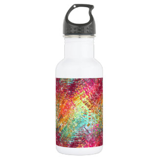 Colorful & glittery glassy-like sparkle design. water bottle