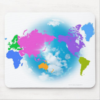 Colorful Global Map Mouse Pad