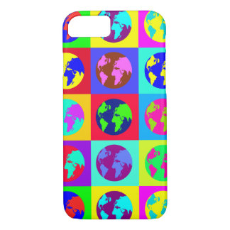 Colorful Globes iPhone 7 Case