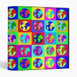 Colorful Globes Vinyl Binder