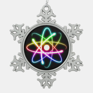 Colorful Glow Atom Nerd Ornament